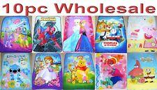 10pc Wholesale Kids Fleece Frozen Peppa Pig Paw Patrol Blanket Polar Throw Mixed