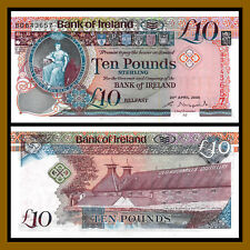 Northern Ireland 10 Pounds, 2008, P-84 Unc