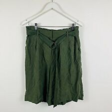 Sussan Womens Shorts Size 12 Army Green New With Tags 100% Lyocell - RRP $90