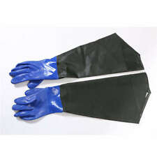 Rubber Knitted Gloves Acid and Abrasion Resistant Non-slip Blue Rubber Gloves