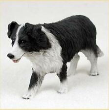 Border Collie Dog Figurine Statue Hand Painted Resin Gift