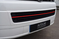 Red Bumper Grille Accent Trim Cover To Fit Volkswagen T5 Transporter (10-15)