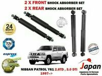 FOR NISSAN PATROL Y61 2.8 3.0 1997->NEW 2 X FRONT + 2X REAR SHOCK ABSORBER SET