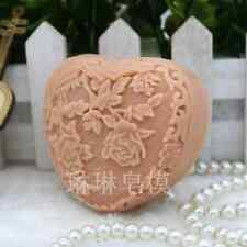 Heart Soap Molds Peony Silicone Craft Candle Soap Making Mould Diy Handmade Mold