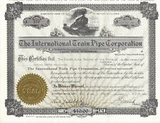 New listing The International Train Pipe Corporation.1928 Common Stock Certificate