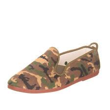 OPERASEI Gabardine Plimsoll Sneakers Size 42 UK 8 US 9 Camouflage Logo Detail