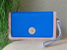 NWT Anne Klein New Recruits SLG Faux Leather Wallet Color Blue