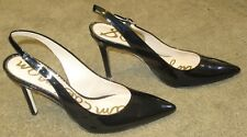 98def38bf48 Wmns Sam Edelman Hastings Black Patent Leather Slingback Heels sz 9.5 M