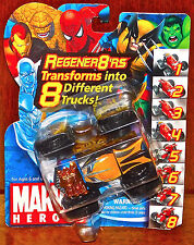 2007 Marvel SPIDERMAN WOLVERINE REGENER8'RS 4x4 YELLOW BLACK Change 8 Trucks NEW