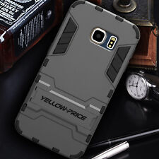 [2015 NEW Release] Galaxy S6 Edge Double Layer Slim Case Stand Armour Shockproof