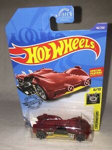 Hot Wheels EXPERIMOTORS SLIDE KICK 2019 - special feature - DRIVER ON LEFT - red