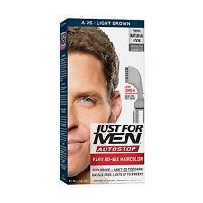 Just For Men AutoStop Men's Comb-In Hair Color, Light Brown