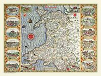 Jigsaw Puzzle Map of Wales 1611 by John Speed (100, 500 or 1000 Piece)