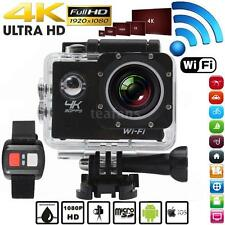 """2"""" 1080P WiFi Ultra HD 4K@30fps 170° Sport Action Camera with Remote Control US"""