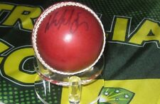 Mick Lewis (Former Victorian & Australian Cricketer) signed Red Cricket Ball