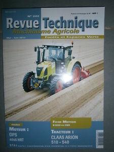 Claas tracteur ARION 510 520 530 540 : revue technique RTMA 202