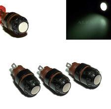 8pcs 1.5-30V Dash Panel Pilot Indicator Instrument Light Lamp White E10 + Bulbs