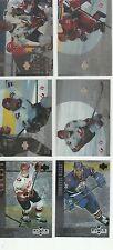 1996-97 Upper Deck Ice Black Diamond (6 Card Rookie Lot)  RC MINT!
