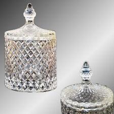 Bonboniere Glasschale ROCKY Kristallschale mit Deckel Bonbonglas Zuckerdose Neu