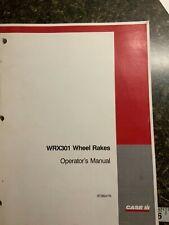 Case Wrx301 Wheel Rakes Operators Manual