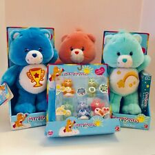 Lot 2003 Care Bears Plush Champ & Wish DVD Plus Figures NIB New & Talking Cheer