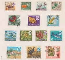 (BTT-41) 1966 Rhodesia part set QEII 14stamps 1d to 1pound (AQ)