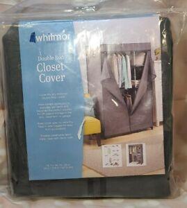 WHITMOR 6779-4866 DOUBLE ROD CLOSET COVER CLOTHING STORAGE RACK FABRIC MEN WOMEN