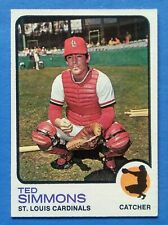 ORIGINAL 1973 TOPPS BASEBALL CARD #85 TED SIMMONS CARDINALS EX-MINT HOF