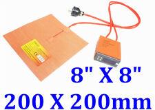 "8"" X 8"" 200 X 200mm 50W w/ Digital Controller NO 3M JSRGO CE UL Pad Heater"