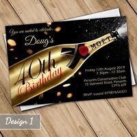 Birthday Invitations Personalised Party Invites 21st 30th 40th 50th 60th 70th