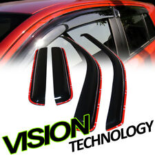 In-Channel Shade Window Visor 4Pc For 04-12 Chevy Colorado/GMC Canyon Crew Cab