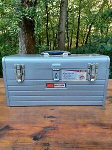 Vintage Sears Craftsman 6500 Silver Metal Toolbox With Socket Tray Nice