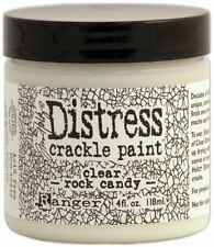 2 Pack-Tim Holtz Distress Crackle Paint 4oz-Clear Rock Candy -TDC31888