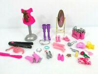 Vintage Barbie Doll Salon Chair Kitchen Doctor Accessories Lot shoes purses 40+