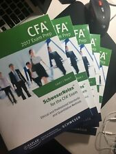 2017 SchweserNotes for CFA Level 1 Exams by Kaplan Schweser (Study Notes Only)