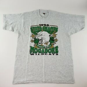 Vintage Single Stitch Football State Champs T-Shirt Mens Sz L 1996 Wildcats USA