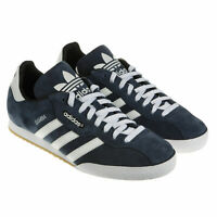 Adidas Originals Samba Super Suede Mens Trainers Leather Sneakers Shoes - Navy