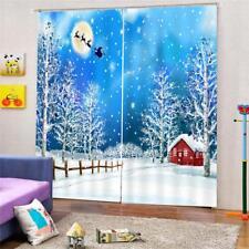 2x Blackout Insulated Window Curtains Pleated Drape Christmas Room Decor 10