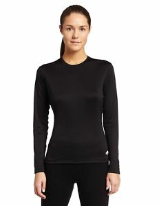 New Hot Chillys Womnes Peachskin Crewneck Base Layer Pullover Tee T-Shirt Small