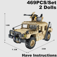 Military Soldiers Call Of Duty Jeep Humvee Jeep Fit Mega Bloks Lego MiniFigures