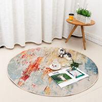 Circular Floor Rugs Rug Carpet Anti-Slip Living Room Bedside Kitchen Mat 120C