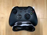 Microsoft 4N6-00001 Wireless Xbox Controller with PC Cable - Black (Open - Bulk)