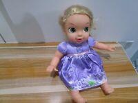 "Disney Baby Rapunzel Tangled Doll Jakks Pacific  12"""