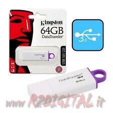 PENDRIVE DTIG4 KINGSTON 64 GB USB 3.0 PENNA ALTA SPEED ARCHIVIO DATA COMPUTER