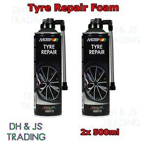 2 X 500ml Quick Fix Car Flat Tyre Repair Foam Seals Inflate Puncture Bike Cycle