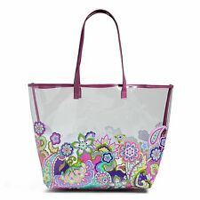 NWT Vera Bradley HEATHER Clearly Colorful Tote Beach Gym Travel Shopping Bag
