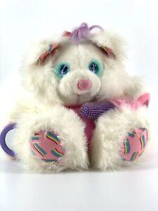 Vintage 1987 AMTOY Brush A Loves White Plush Plushie Pink Belly Stuffed Animal
