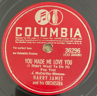 "1941 jazz HARRY JAMES ""YOU MADE ME LOVE YOU"" instrumental 78 COLUMBIA 36296 E+"