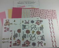 Stampin' Up! Simply Scrappin' BUTTONS BOWS & TWINKLETOES Scrapbook Kit