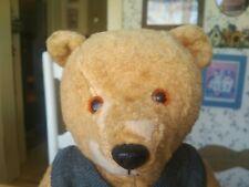 Rare Antique Vintage artsilk Musical Chiltern Teddy Bear England UK 16in GUC+